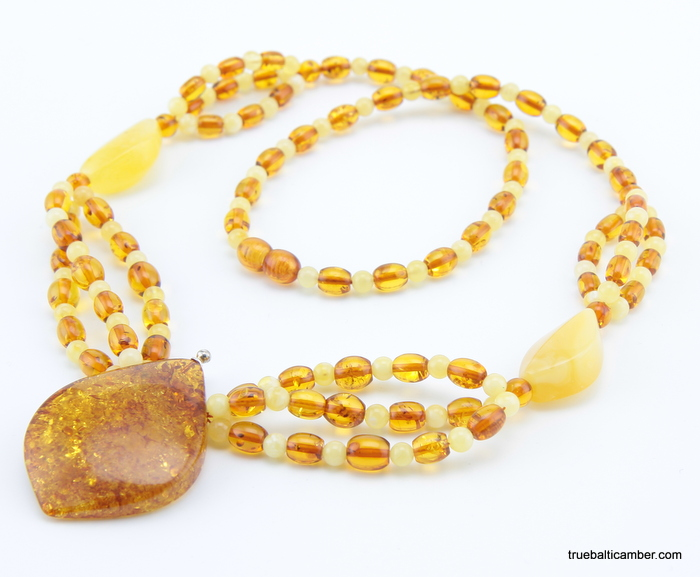 Necklaces modern multi strand baltic amber pendant necklace multi strand baltic amber pendant necklace aloadofball Images