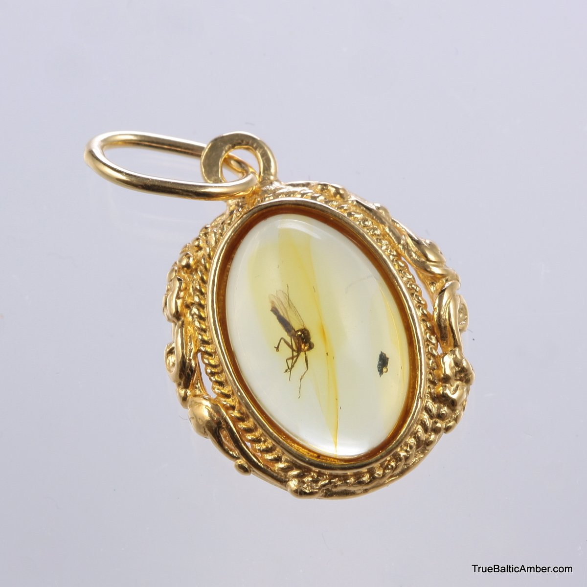 Collectibles pendants with insects gold plated baltic amber gold plated baltic amber pendant with insect inclusion mozeypictures Gallery