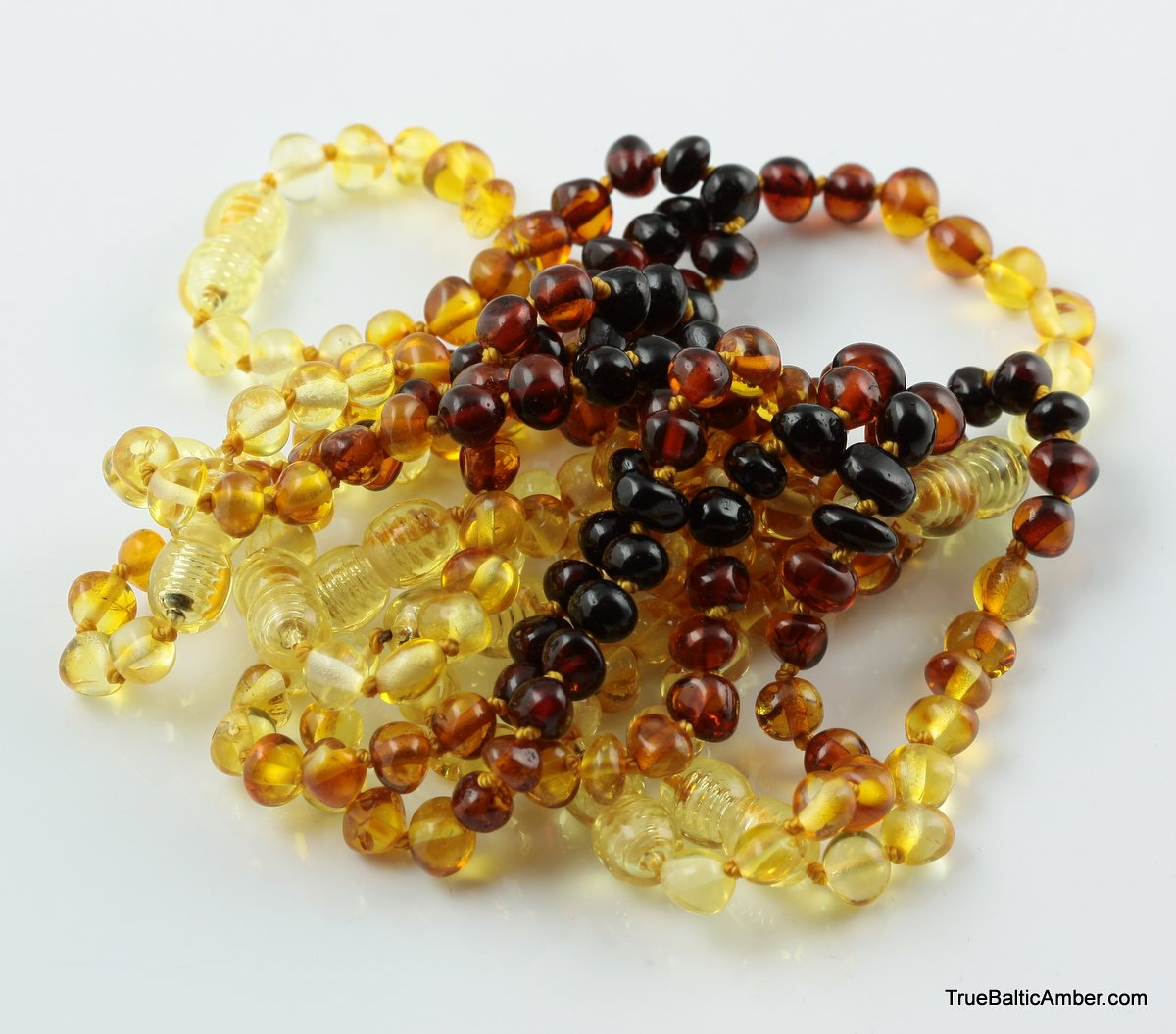 Baltic Amber Teething Knotted Bracelets