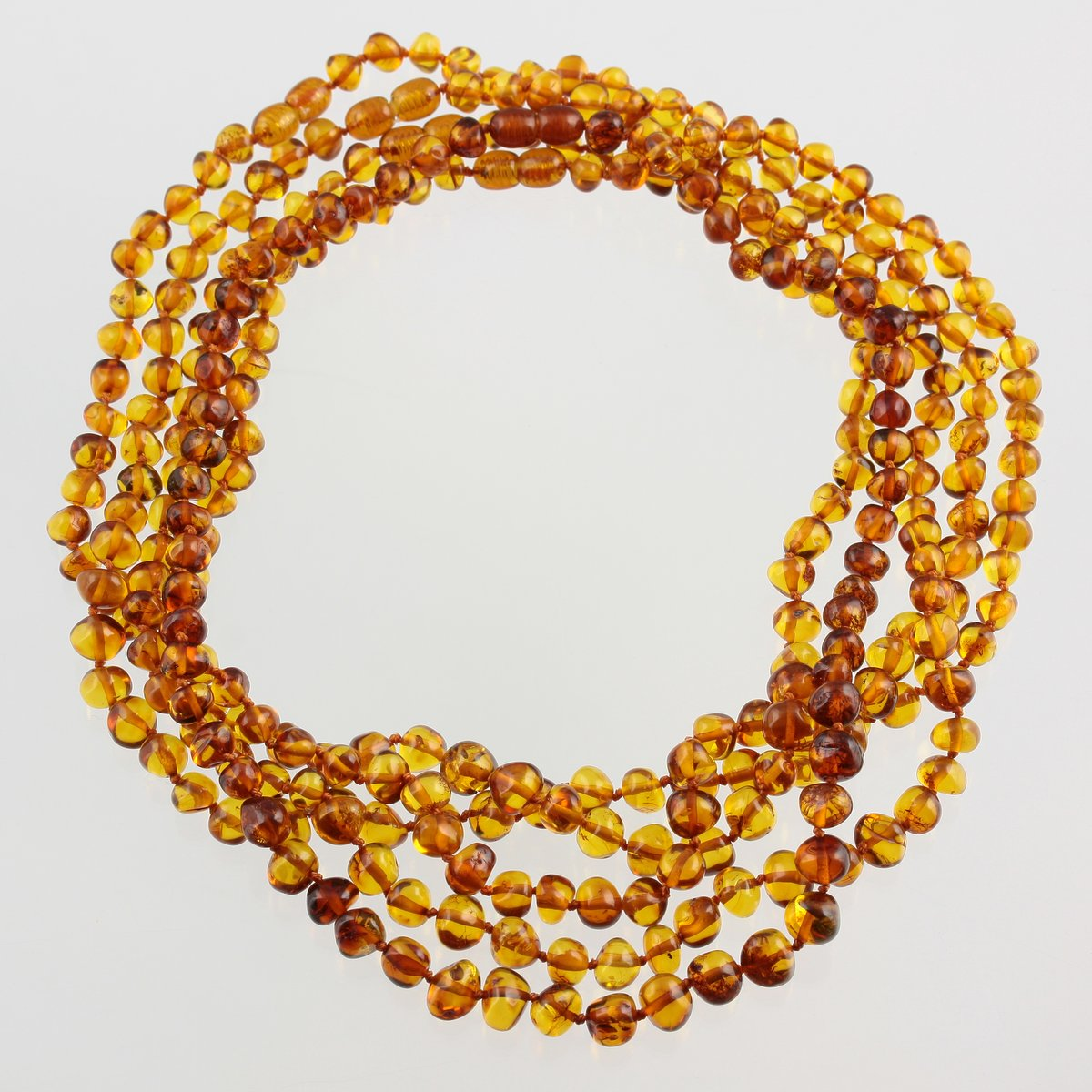 LOT 5 pcs POLISHED  BALTIC AMBER BABY  NECKLACES 11inches