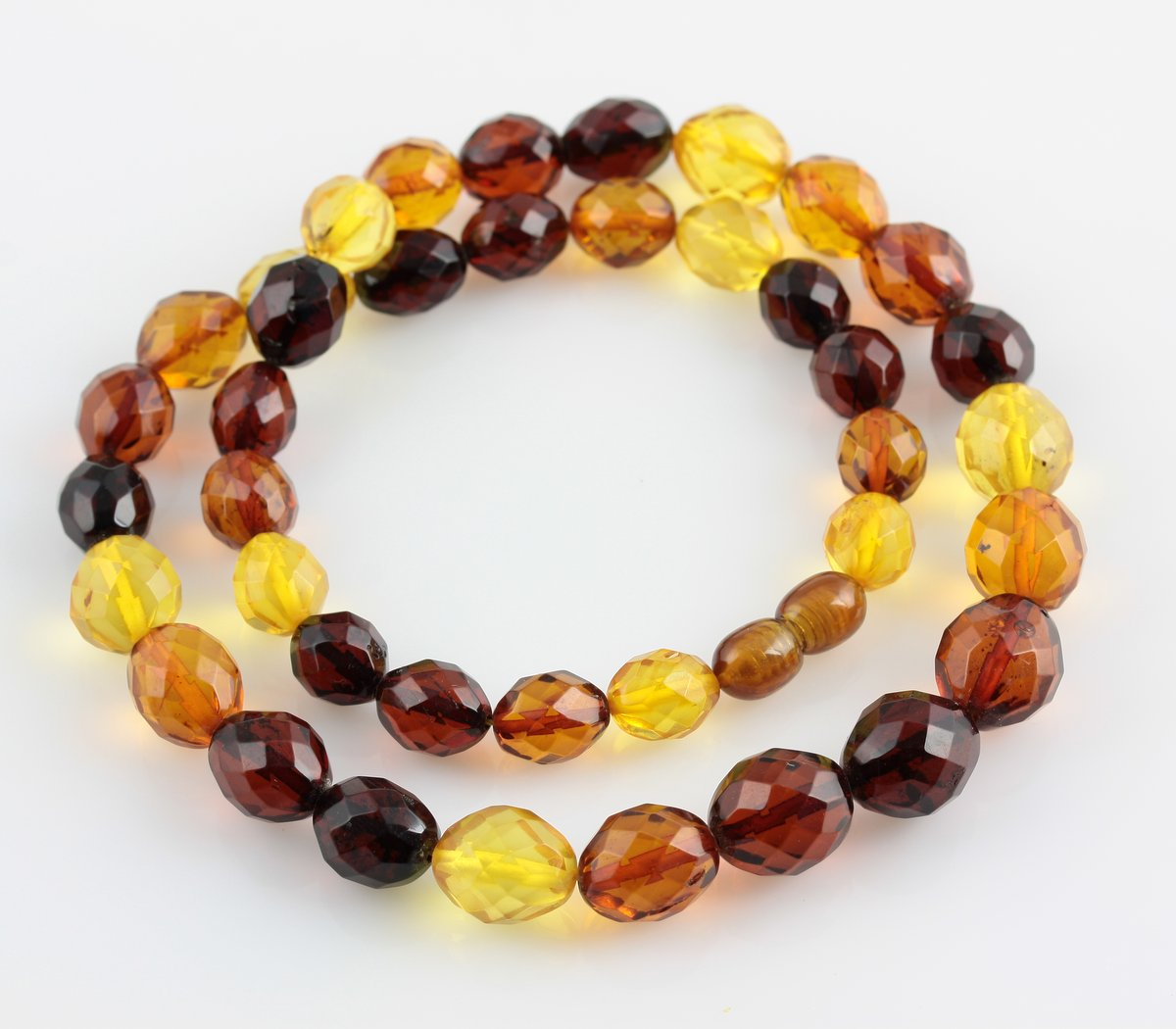 Olive Garden With Amberstone: Necklaces :: Fashion :: Facet Cut OLIVE Beads Baltic Amber