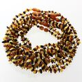 10 Multi CHIPS Baltic amber teething Baby necklaces 32cm