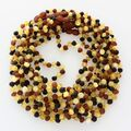 10 Raw Multi BAROQUE Baltic amber teething necklaces 36cm