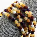 5 Raw Honey Gems Baltic Amber teething necklaces 33cm