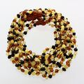 10 Multi BAROQUE Baltic amber teething necklaces 32cm