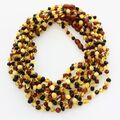 10 Multi BAROQUE teething Baltic amber necklaces 38cm