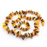 Multi thorns Baltic amber necklace 22in