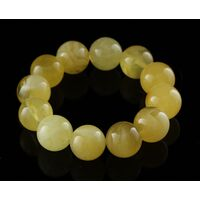 17MM Butter Round Beads Baltic Amber Bracelet