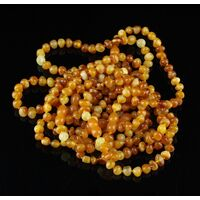 10 Butter BAROQUE Baltic amber adult bracelets 20cm