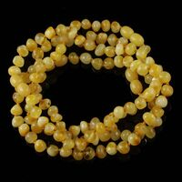 4 Butter Baltic Amber Anklets 25cm