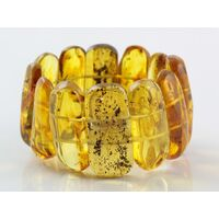 Baltic amber stretch bracelet with insect inclusions 20cm
