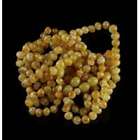 10 Butter BAROQUE Baltic amber teething bracelets 14cm