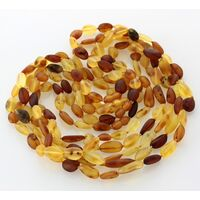 5 Raw Mix BEANS Baltic amber adult necklaces 52cm