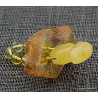 Baltic amber teething dummy - pacifier