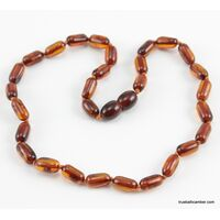 Cylinder beads HQ Baltic amber teething necklace
