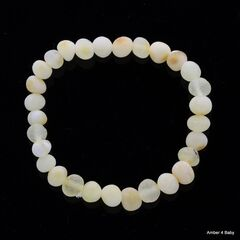 Raw Baltic Amber Teething Bracelet for Babies