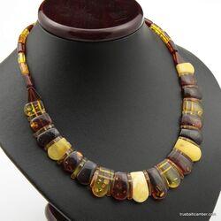 Beautiful Multi pieces Baltic amber choker 17in