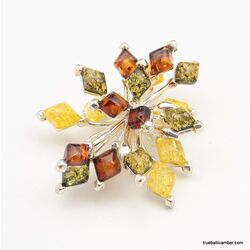 Evening star Baltic amber pendant