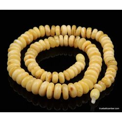 Butter BUTTON beads Baltic amber necklace 18in