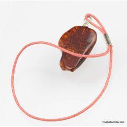 Natural Baltic amber - strap charm dangle