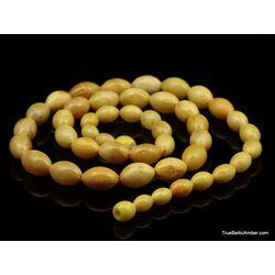 ANTIQUE Vintage Egg Yolk BARREL Baltic amber necklace