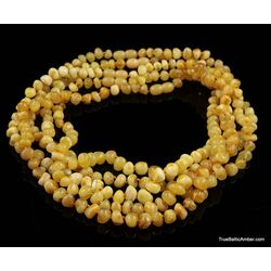 5 Butter BAROQUE Baltic amber adult necklaces
