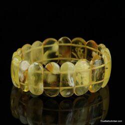 Honey pieces Baltic amber stretch bracelet