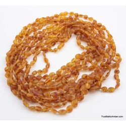 10 Honey RAW BEANS Baltic amber adult necklaces