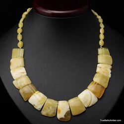 Butter pieces Baltic amber choker 18in