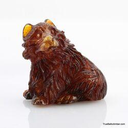 Carved Genuine BALTIC AMBER - Bear