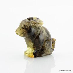 Carved Genuine BALTIC AMBER - Rabbit
