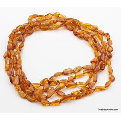 5 Honey BEANS Baltic amber adult wholesale necklaces 19in