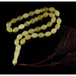 Islamic 33 OLIVE Prayer BALTIC AMBER Beads Muslim Rosary