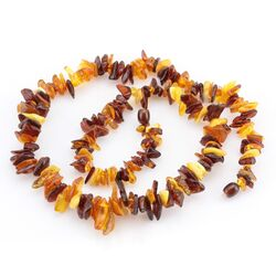 Multi thorns Baltic amber necklace 24in