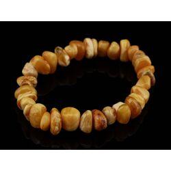 Egg Yolk nuggets Baltic amber stretch bracelet 7in