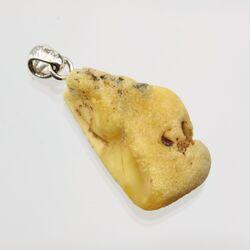 Sea Stone Baltic Amber Silver Pendant