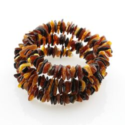 Multi Baltic amber Memory wire bracelet