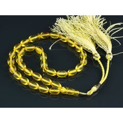 Islamic 33 Baltic amber Prayer OLIVE beads