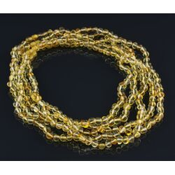 Lemon BAROQUE beads Baltic amber adult necklaces 50cm