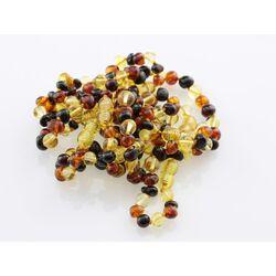 9 Multi BAROQUE Baltic amber teething bracelets