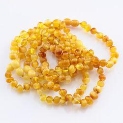 6 Butter BAROQUE Baltic amber adult bracelets