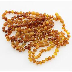 10 Butter BAROQUE Baltic amber adult bracelets 19cm