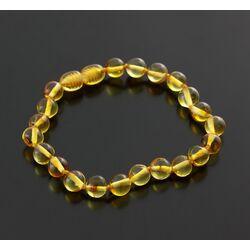 Honey BAROQUE beads Baltic amber adult bracelet 18cm