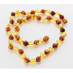 Multi2 BAROQUE beads Baltic amber necklace 42cm