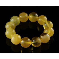 18MM Butter Round Beads Baltic Amber Bracelet 19cm