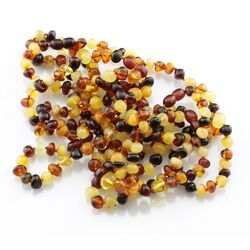 10 Multi BAROQUE Baltic amber adult bracelets 19cm
