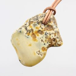 Baltic Amber Pendant on Leather Cord