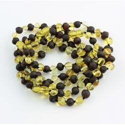 5 BAROQUE Baltic amber adult bracelets 22cm