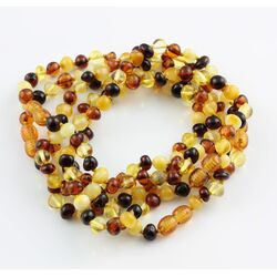 5 Multi Baltic Amber Anklets 25cm