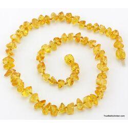 Wholesale Baby teething Baltic amber honey bead necklaces